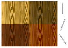 drewniani gwoździ odosobneni wzory ilustracji