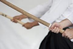 drewniani japońscy kordziki obraz stock