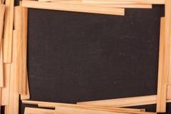 Drewniani kije na czarnym tle zdjęcia royalty free