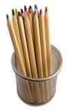 drewniani kolorów ołówki Zdjęcia Royalty Free