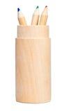 drewniani kolorów ołówki Fotografia Royalty Free