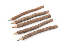 Drewniani kolorów ołówki zdjęcie stock