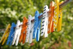 drewniani kolorowi czopy zdjęcie royalty free