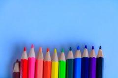 Drewniani kolorowi ołówki Obraz Royalty Free