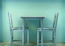 Drewniani krzesła z rocznika stylem Zdjęcia Stock