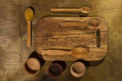 Drewniani kuchenni akcesoria Fotografia Stock