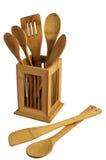 drewniani kuchenni naczynia Zdjęcie Stock