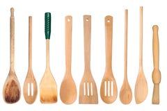drewniani kuchenni naczynia obraz stock