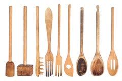 drewniani kuchenni naczynia Obraz Royalty Free