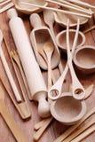 drewniani kuchenni naczynia Zdjęcie Royalty Free