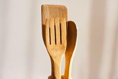 drewniani kuchenni narzędzia Fotografia Royalty Free
