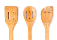 Drewniani kulinarni naczynia Fotografia Stock