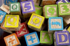Drewniani listów bloki Zdjęcie Stock