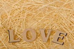 Listy tworzy słowo miłość Zdjęcie Stock