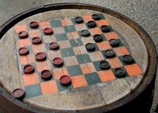 drewniani lufowi warcaby zdjęcie royalty free