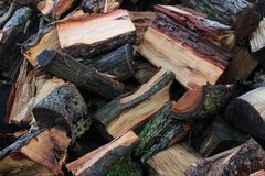 Drewniani Mali kawałki obraz royalty free