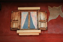 Drewniani okno. Zdjęcia Stock