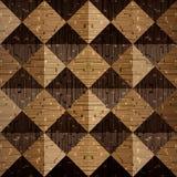 Drewniani ostrosłupy brogujący dla bezszwowego tła Zdjęcie Royalty Free