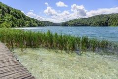 Drewniani przejścia przez jezior Zdjęcie Stock