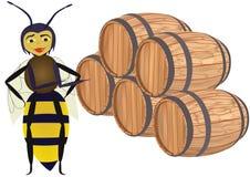 drewniani pszczoła abstrakcjonistyczni krupony royalty ilustracja