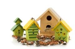 drewniani ptasi domy fotografia stock