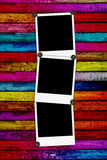 drewniani puści tło polaroidy trzy royalty ilustracja
