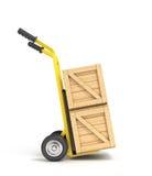 Drewniani pudełka na ręki ciężarówce Fotografia Royalty Free
