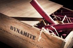 drewniani pudełkowaci niebezpieczni dynamitowi kije Obraz Stock