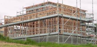 Drewniani ramowi domy, buduje w Nowa Zelandia Obraz Royalty Free