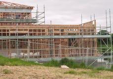 Drewniani ramowi domy, buduje w Nowa Zelandia Fotografia Stock