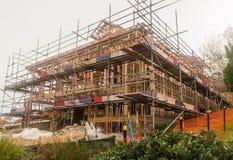 Drewniani ramowi domy, buduje w Nowa Zelandia Zdjęcie Stock