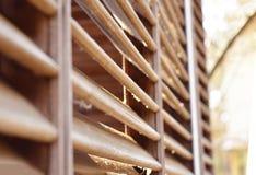 Drewniani rozdziały w świetle słonecznym zdjęcie stock