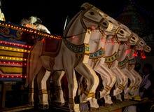 Drewniani rydwanów konie Zdjęcia Stock