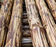 Drewniani słupy Zdjęcia Royalty Free