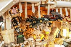 Drewniani samochody Obrazy Stock