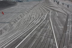 Drewniani schodków kroki Zdjęcie Royalty Free