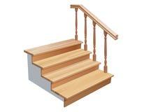 Drewniani schodki Zdjęcia Stock