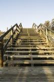 Drewniani schodki na diunach przystępować plażę Guardamar Del Seg Fotografia Royalty Free