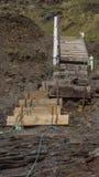 Drewniani schodki prowadzi up Fotografia Stock