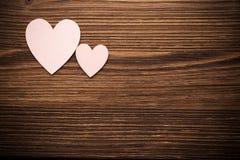 Drewniani serca. fotografia stock