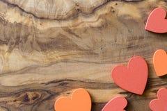 Drewniani serca obraz stock