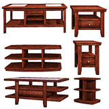 Drewniani stoły Fotografia Royalty Free