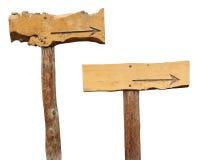 drewniani strzałkowaci znaki Fotografia Royalty Free