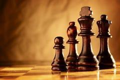 Drewniani szachowi kawałki zdjęcia stock