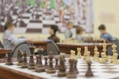 Drewniani szachowi kawałki Obraz Royalty Free
