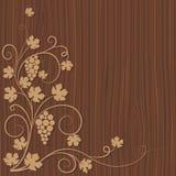 drewniani tło winogrona Obraz Royalty Free