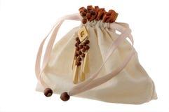 drewniani torba koraliki Fotografia Royalty Free