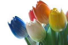 Drewniani tulipany Zdjęcie Royalty Free