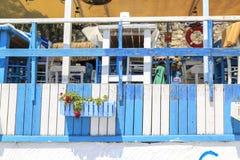 Drewniani wystroje na ulicie Alacati w Cesme, Turcja zdjęcie royalty free