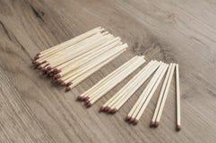 Drewniani zbawczego dopasowania kije Obraz Royalty Free